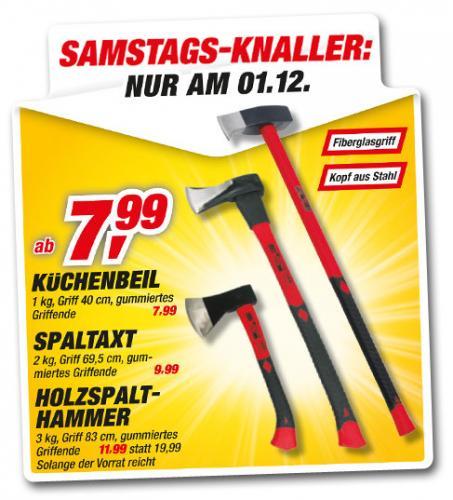 [toom Baumarkt] 3000g Spalthammer Fiberglasstiel - 11,99 - nur Samstag 1.12