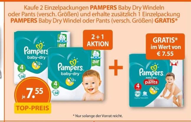 Pampers Baby Dry 3 für 2 (Müller)