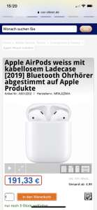 Schnell! Apple AirPods 2 2019 Wireless Ladecase inkl. Versand 196,32