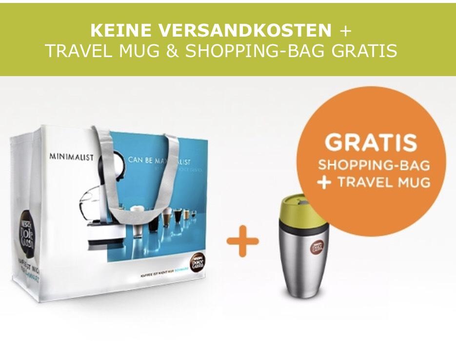 Dolce Gusto ab 15€ Versandkostenfrei und Shopping Bag + Travel Mug in Grün Geschenkt