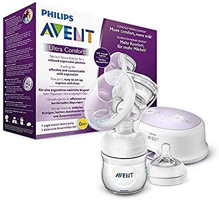 Philips Avent SCF332/31 Elektrische Komfort-Einzelmilchpumpe, inkl. Naturnah-Flasche, weiß [Amazon]