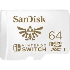 SanDisk Nintendo Switch 64 GB microSDXC, Speicherkarte (UHS-I U3, V30)
