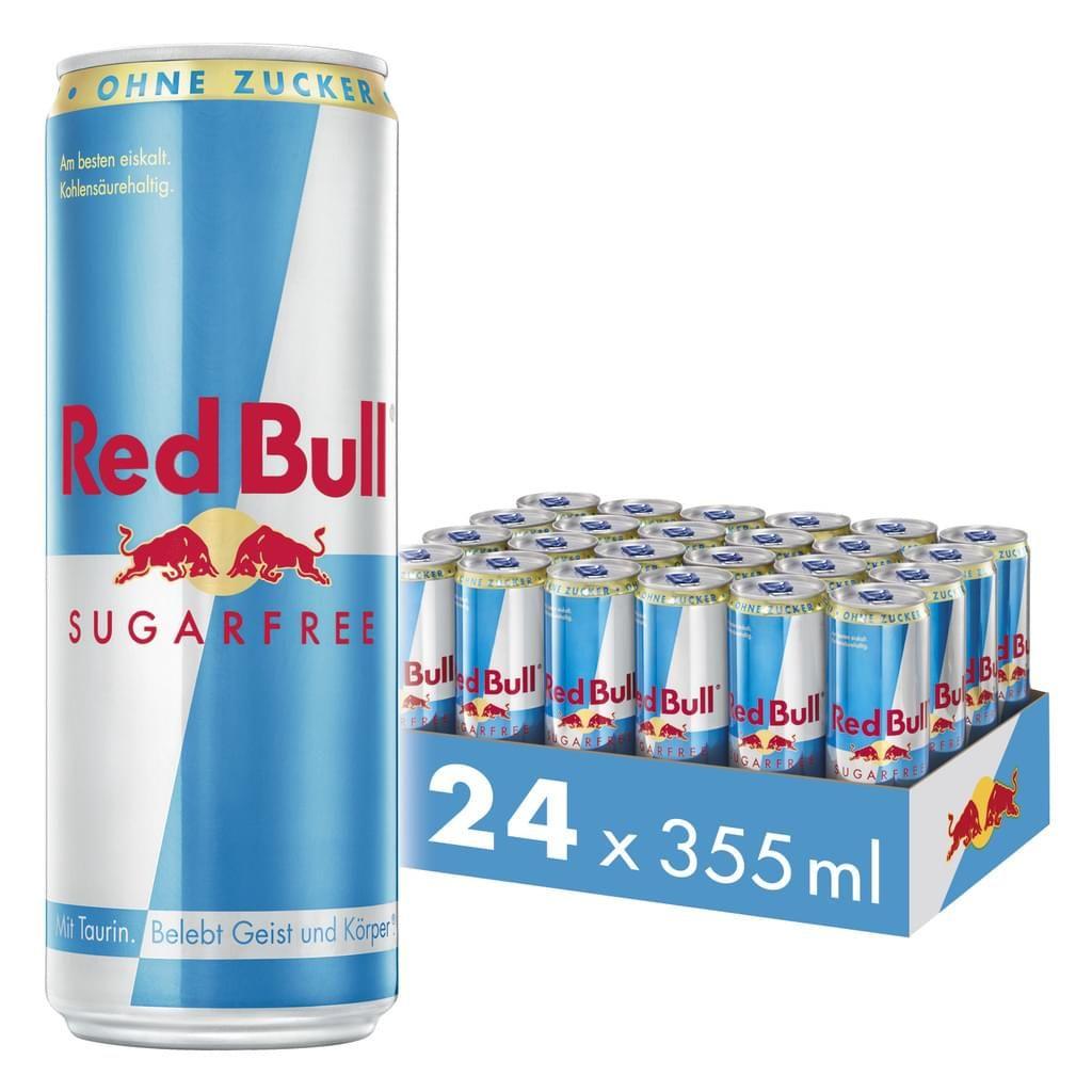 Red Bull Energy Drink Zuckerfrei 24 x 355 ml [6,00 € Pfand im Preis enthalten]