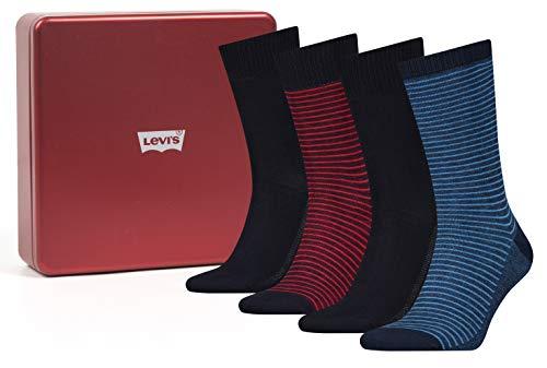 Levi's Levis Herren Socken - Geschenkbox Red Box Edition 4 er Pack [amazon Prime]