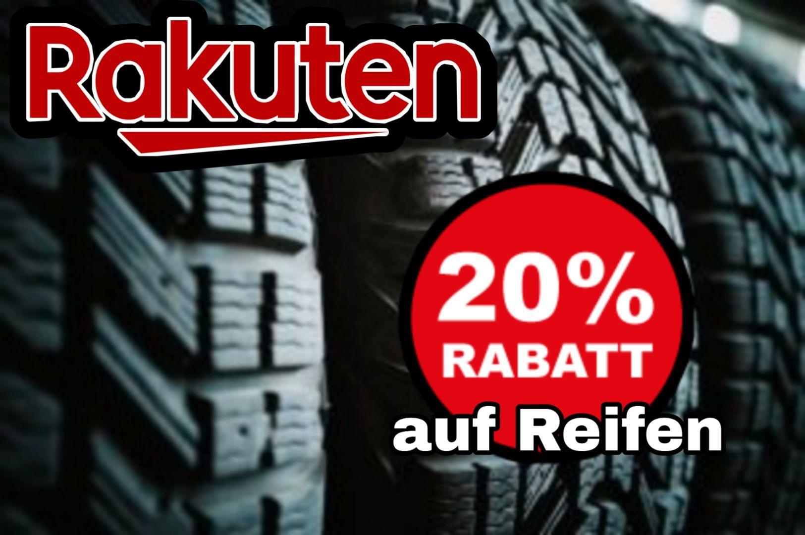 Rakuten 20% auf Reifen mittels Gutscheincode