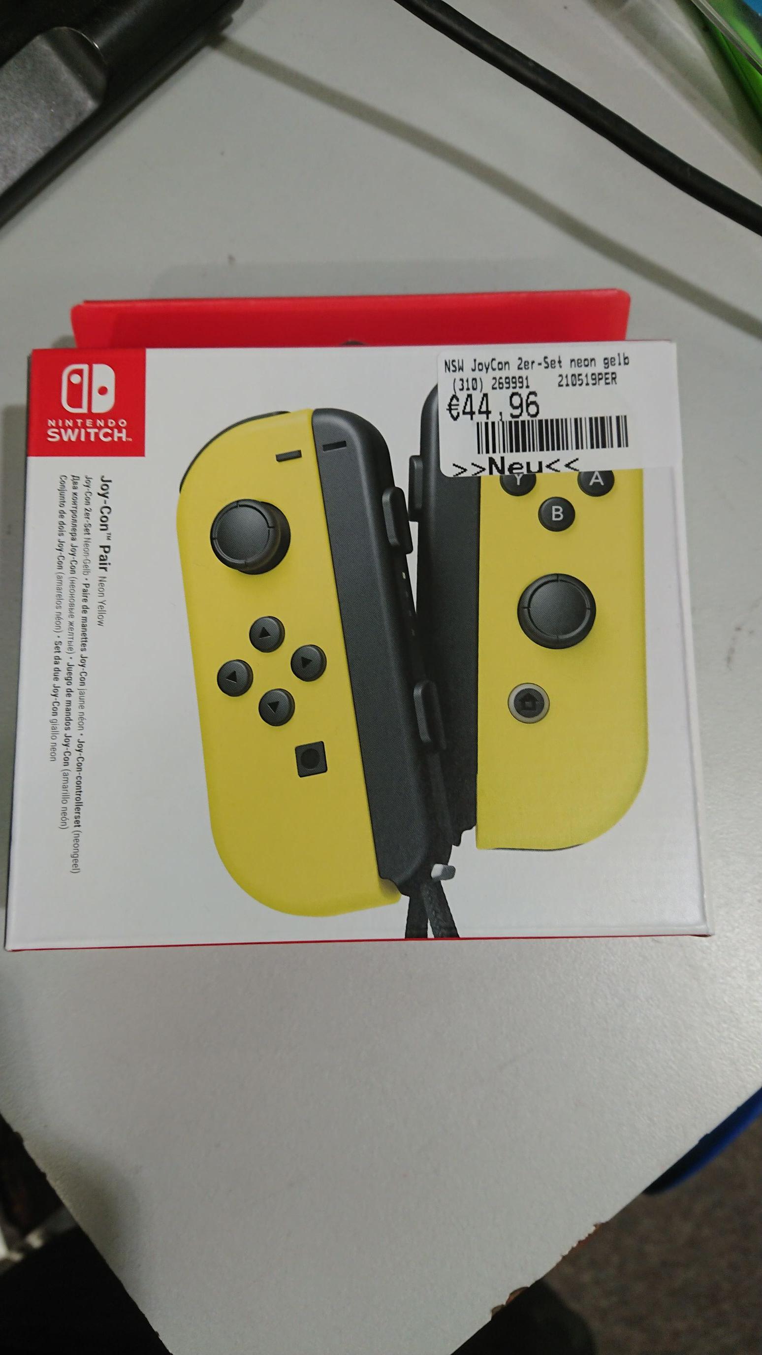Nintendo Switch JoyCon Paar (Gelb) [Gamestop]