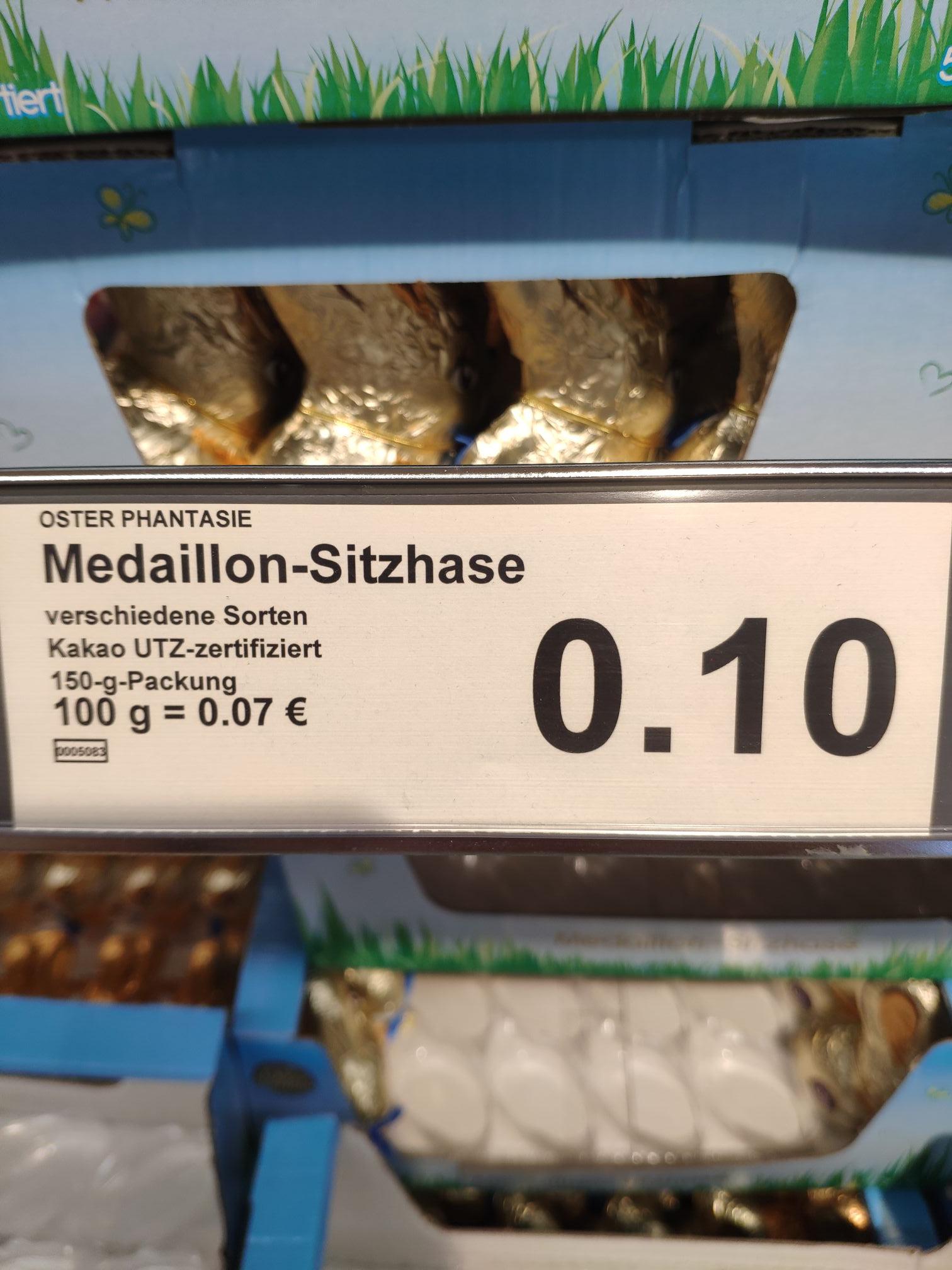 Schokoladenhase UTZ 150 Gramm, Lokal Aldi Lübeck Kanalstrasse