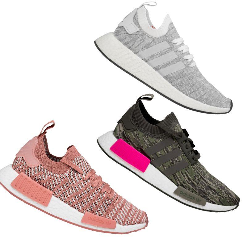 adidas Originals NMD_R1 bzw. R2 Primeknit Sneaker in 3 Farben und jew. Größe 36 bis 49