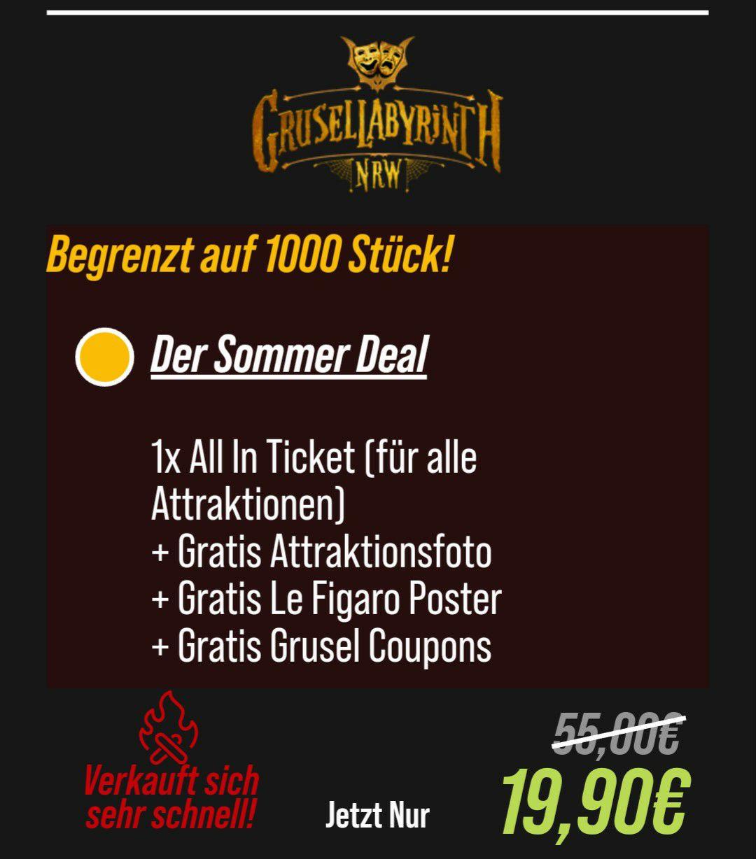 Grusellabyrinth NRW in Bottrop Sommer Deal