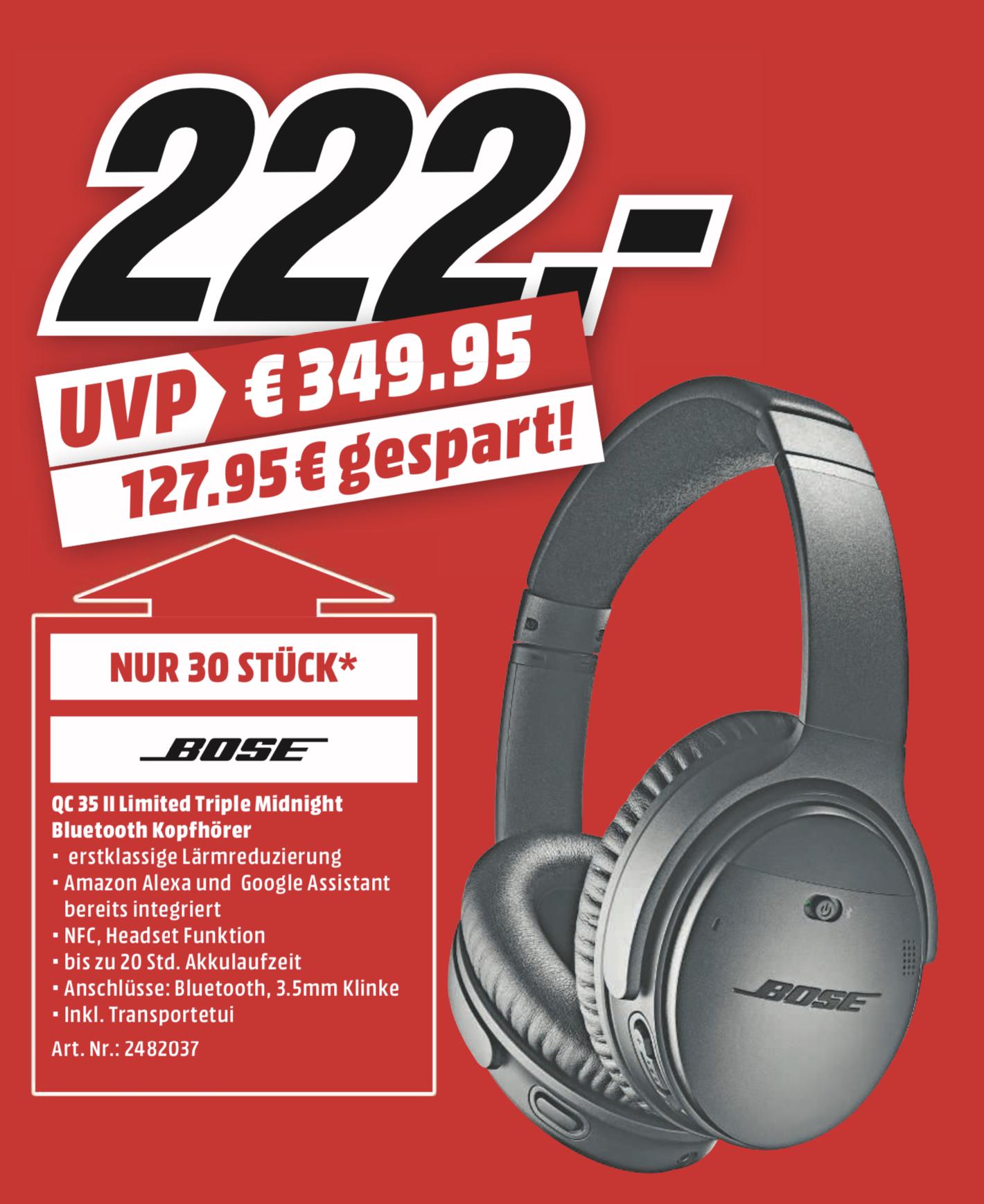 Grosser Zeltverkauf bei MediaMarkt Heilbronn - z.B. Bose QC 35 II für 222€ oder Sony 4K UHD TV KD-65XF8505 für 999€ - vom 23.05. - 25.05.