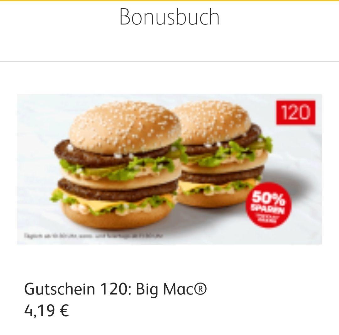 2 Big Mac zum Preis von einem - McDonalds App
