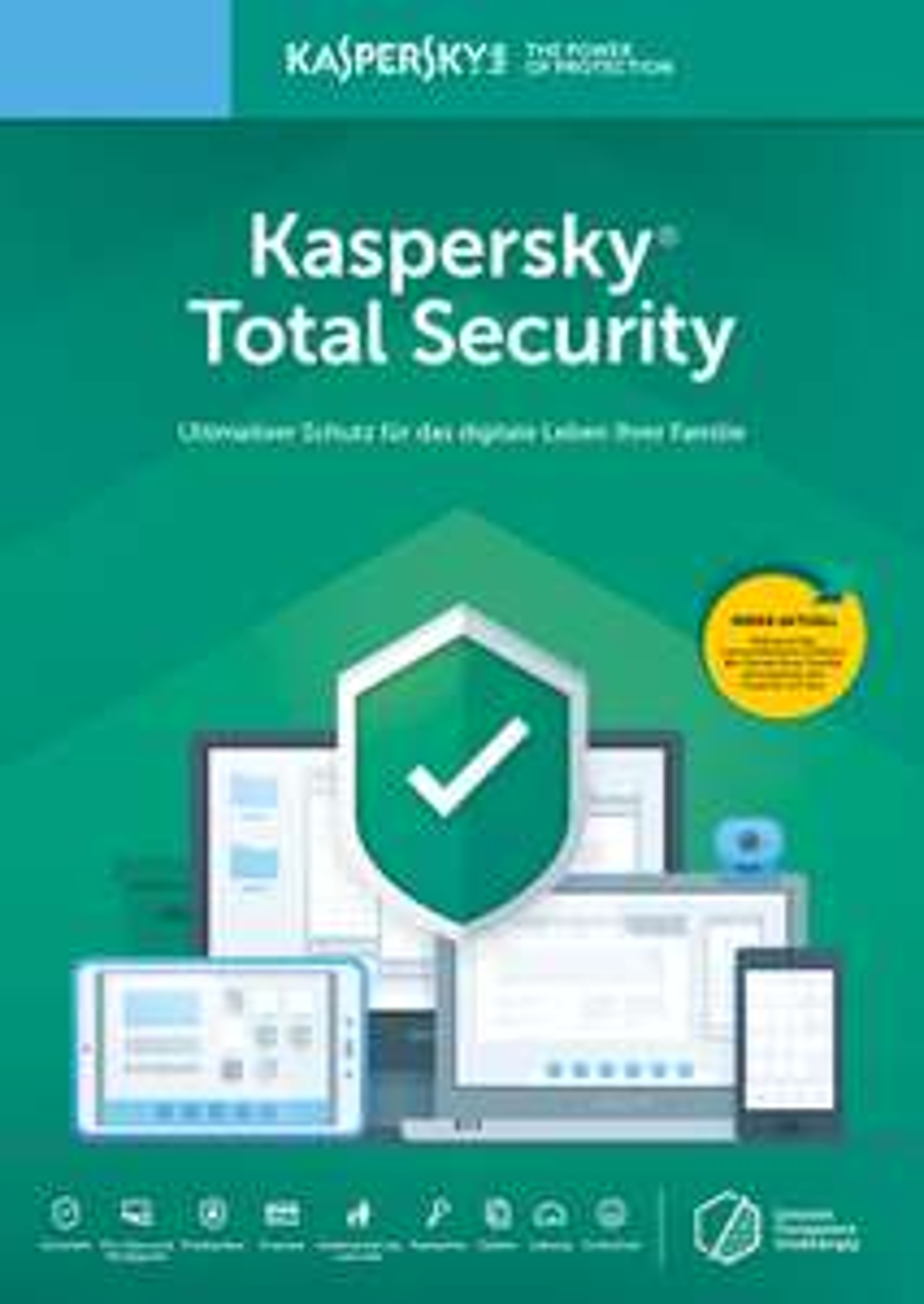Kaspersky Total Security 1 Gerät (1 Jahr) MediaMarkt - Rabatt bei Kauf durch App!
