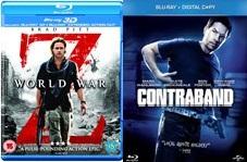 World War Z: Extended Action Cut 3D + Contraband (Alternativ Lucy und andere Blu-rays) zusammen für 7,96€ inkl. Versand