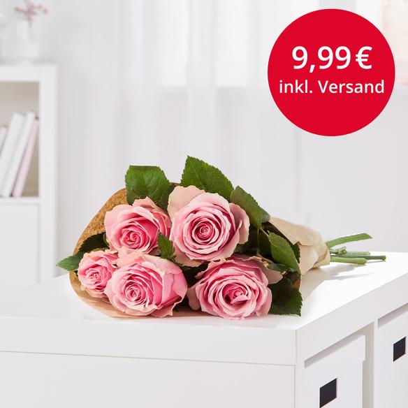 [blume2000.de] 5 rosafarbene Rosen für 9,99€ inklusive Versand