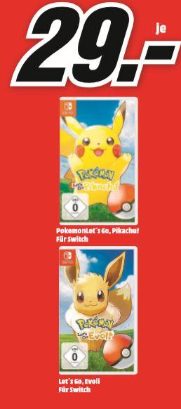 [Regional Mediamarkt Alzey/Bischofsheim/Mainz] Pokémon: Let's Go Pikachu und Evoli für je 29,-€