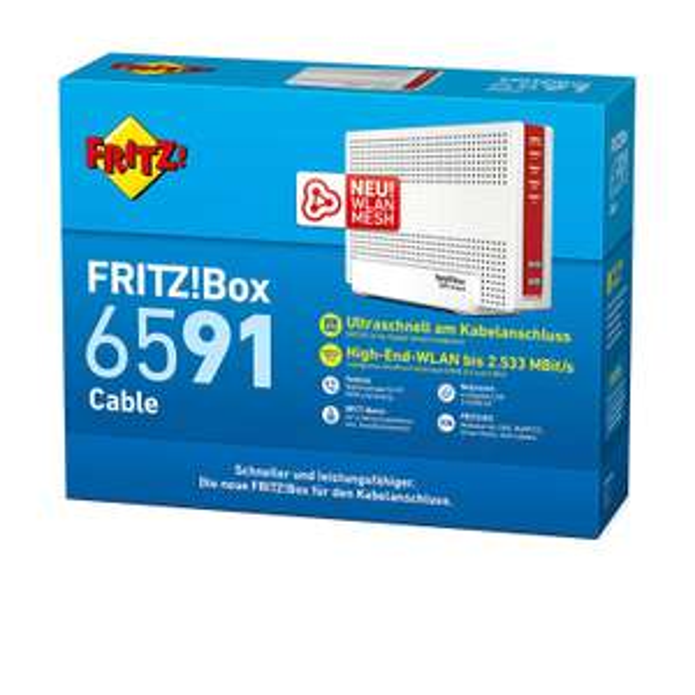 [amazon.fr]  AVM Fritz!Box 6591 Router Wi-FI AC + N (DOCSIS-3.1)