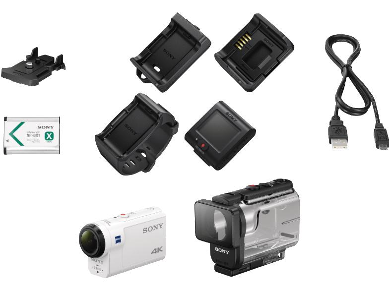 Sony FDR-X3000R 4K Action Cam + Travel-Kit + Mehrzweck-Griff für 341,14€ (Amazon FR)