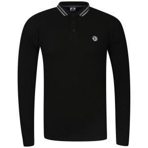 Carter Men's Suggs Long Sleeve Polo Shirt (schwarz) für ~11,11€ inkl. Versand @ Zavvi