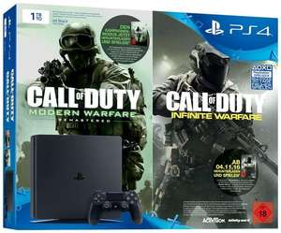 Playstation 4 Slim 1TB Call of Duty Infinite Warfare (Neuware ohne Umverpackung) für 184,99€ (GameStop)