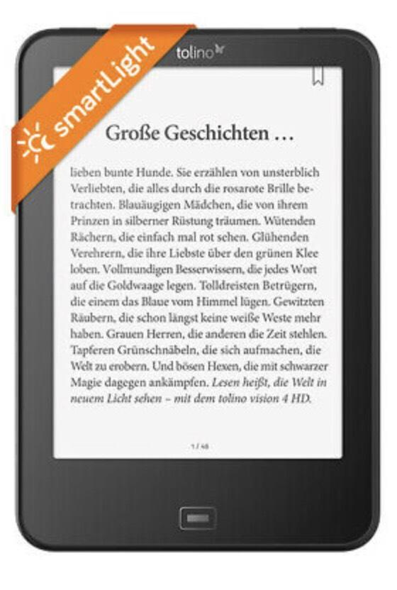 Ebay.de [Hugendubel] - tolino vision 4 HD mit smartLight Beleuchtung und WLAN für bis zu 6000 eBooks