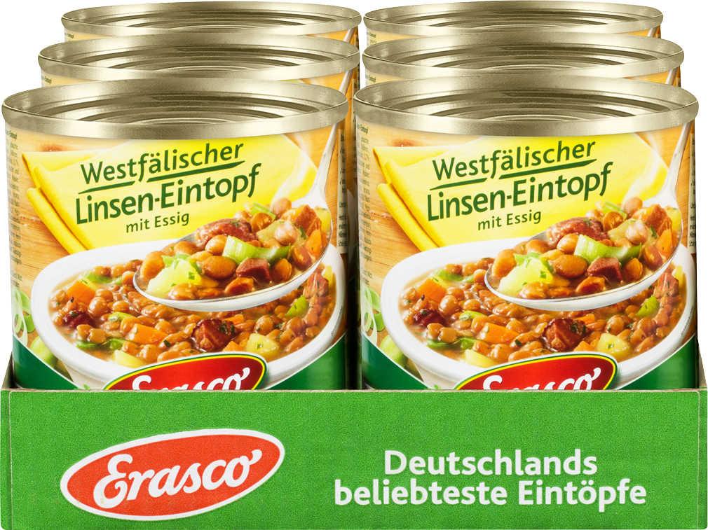 Superpreis Erasco Eintöpfe bei Kaufland im Karton