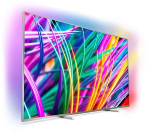 "Philips 55PUS8303 (55"", UHD, IPS, Edge-LED, 10bit, 120Hz, HDR10+ & HLG, 400 cd/m², Triple Tuner, 3-seitiges Ambilight, DTS, Android TV 8.0)"