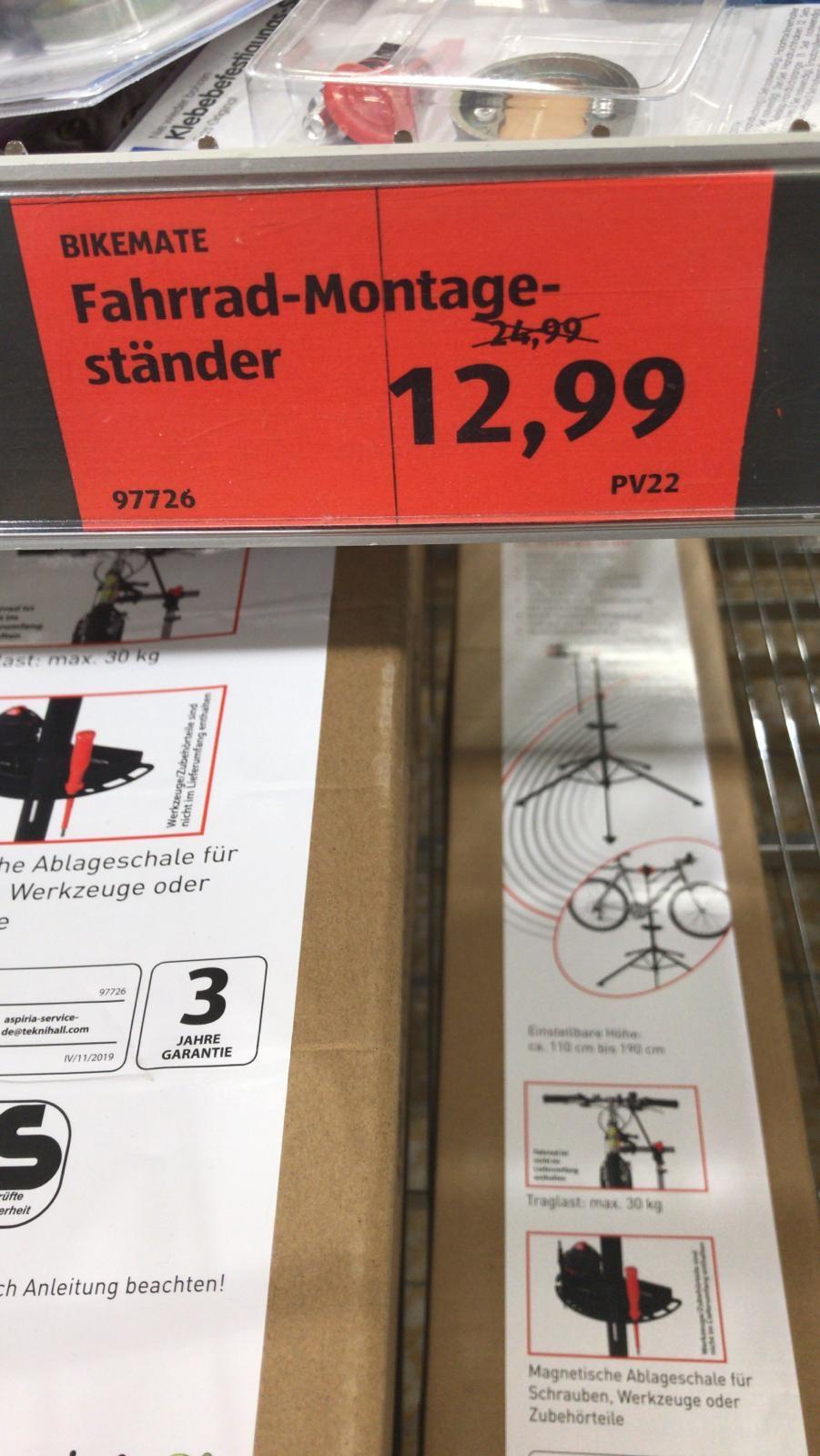 [Lokal: Aldi Süd Hilden] bikemate Fahrrad-/Montageständer