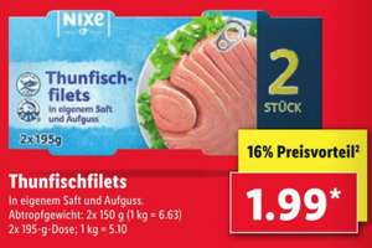 2x Thunfisch Filet für 1,99€ [Lidl ab 27.05.]