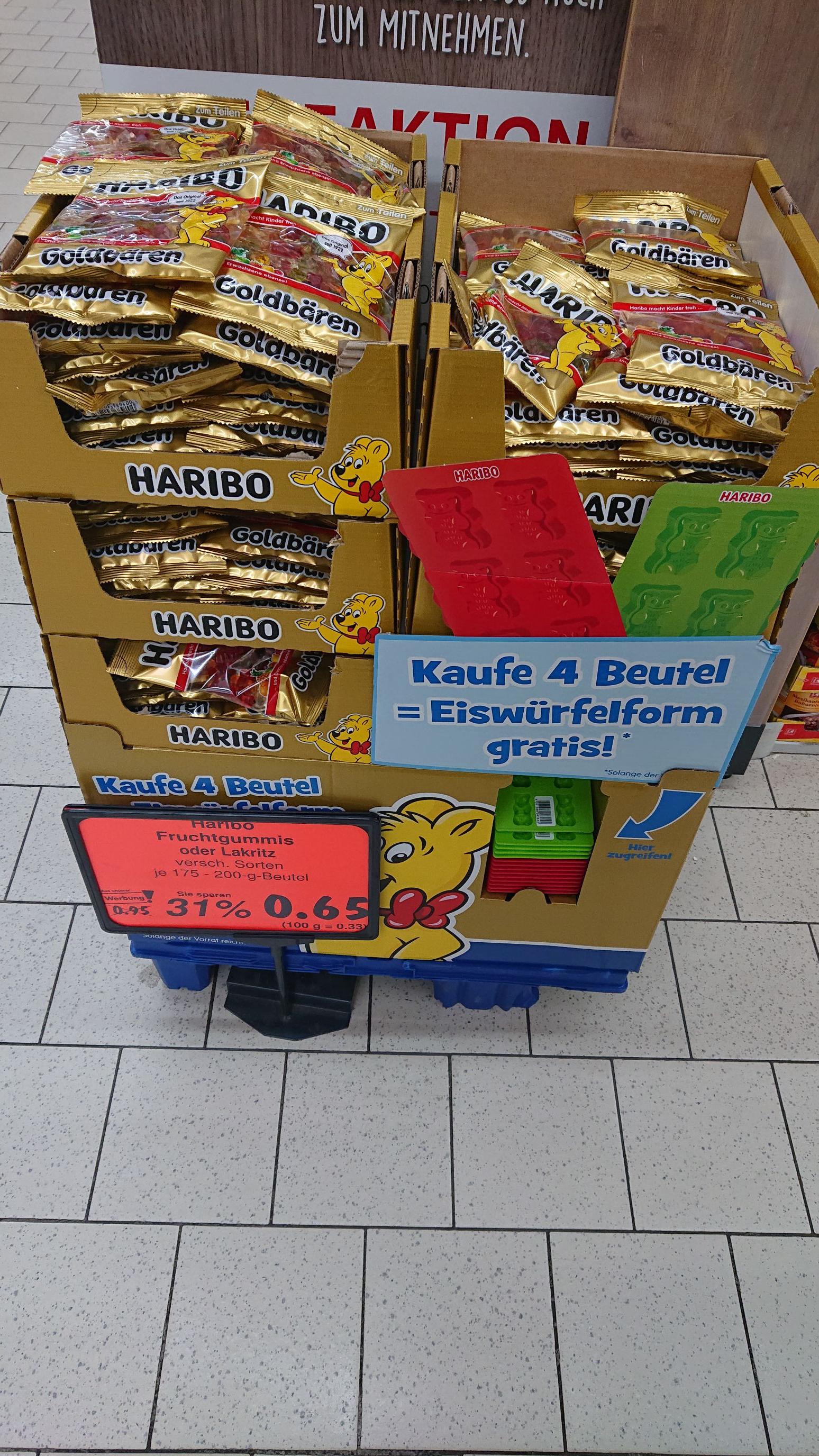 [Kaufland] Haribo Goldbären 4x 200g + Gratis Eisform (gilt auch für Haribo Lakritze, Color-Rado Fruitmania)