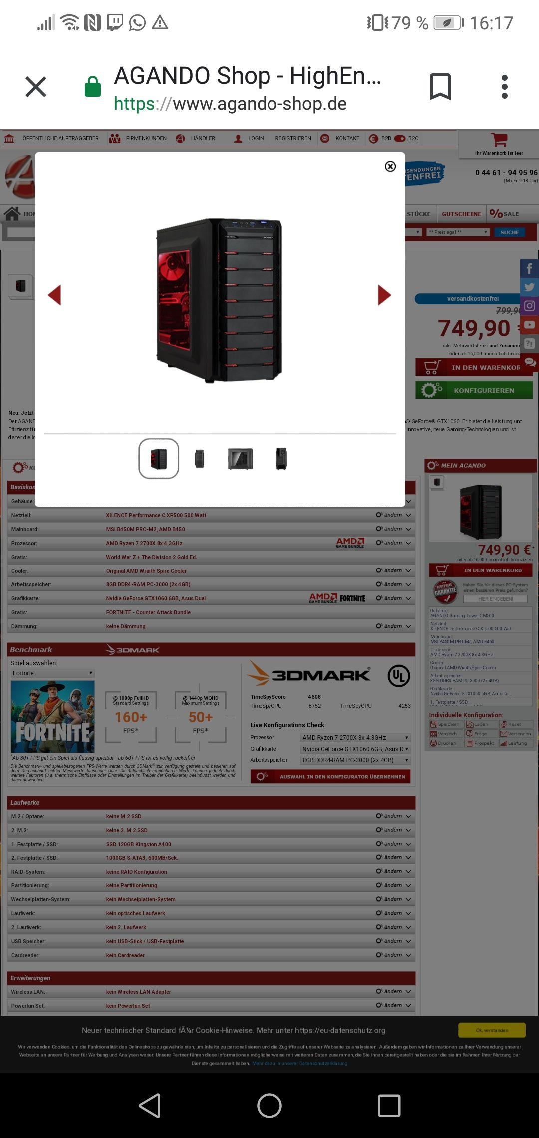 50€ Deal bei Agondo für Ryzen 7 2700x Gaming PC