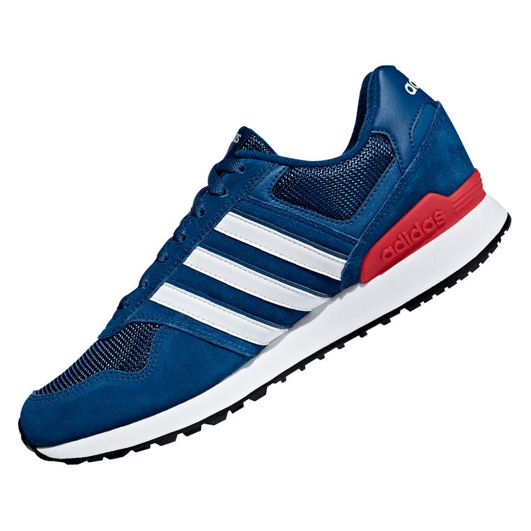 adidas 10k Sneaker / Laufschuh für Herren mit Wildleder-Overlays in dunkelblau / weiß
