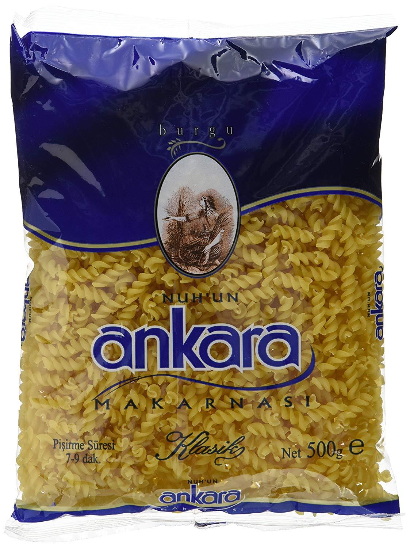 [ amazon Prime only ] Ankara Nudeln Fusilli/Burgu, 20er Pack (20 x 500 g) für 11,21€ (entspr. 0,59€ pro Packung)