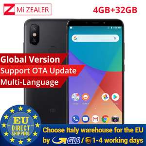 "Xiaomi Mi A2 Global 4+32GB - Snapdragon 660 - 6"" FHD - 20MP+12MP - Android One - Versand aus Italien"