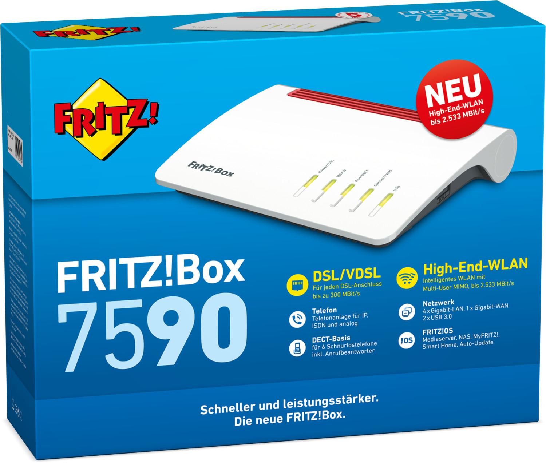 AVM FRITZ!Box 7590 für 163,80€ inkl. Versandkosten [ebay App]