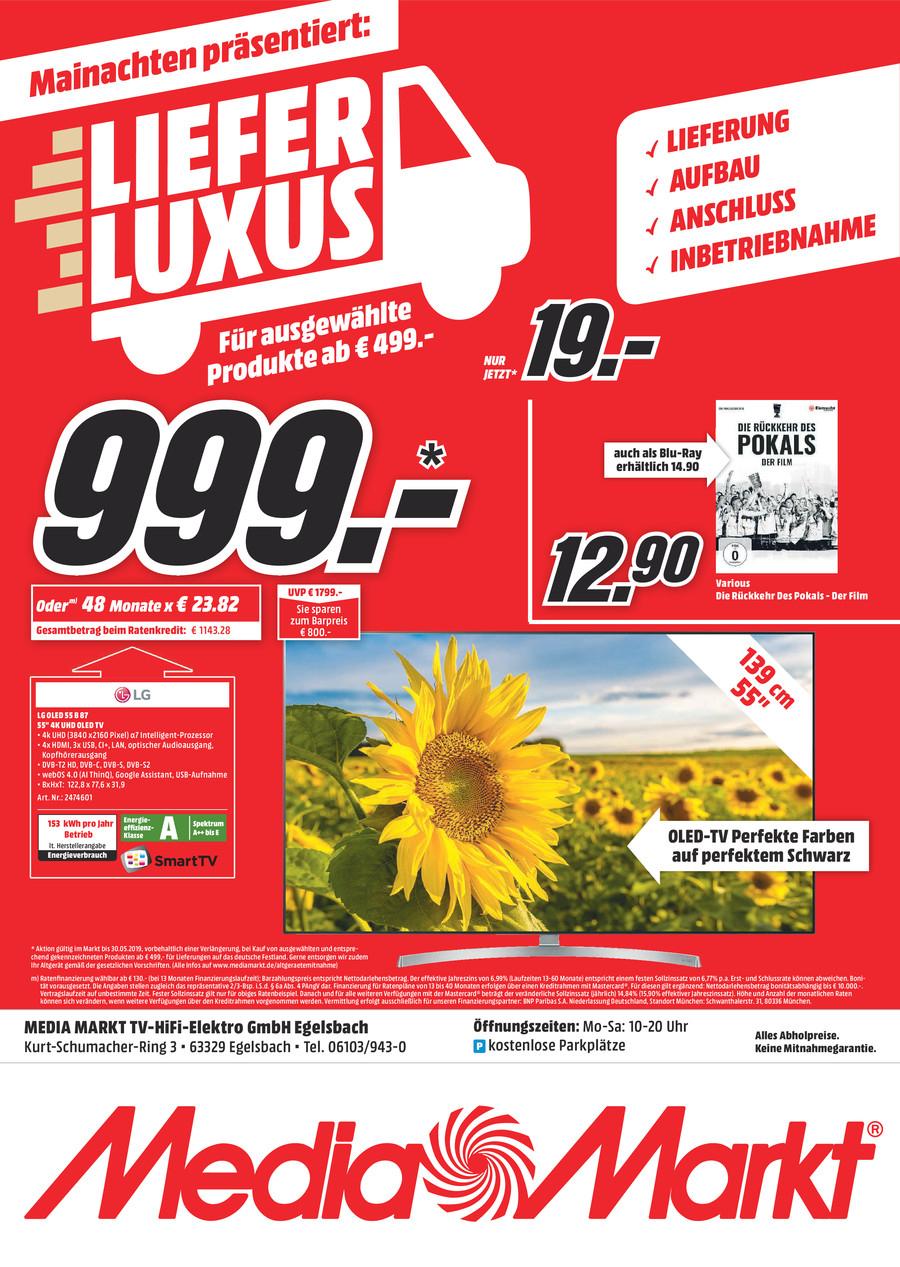 "[lokal: MediaMarkt Egelsbach] LG 55B87LC 55"" OLED TV • UHD - HDR (Dolby Vision/HDR10/HLG) - Twin-Tuner"
