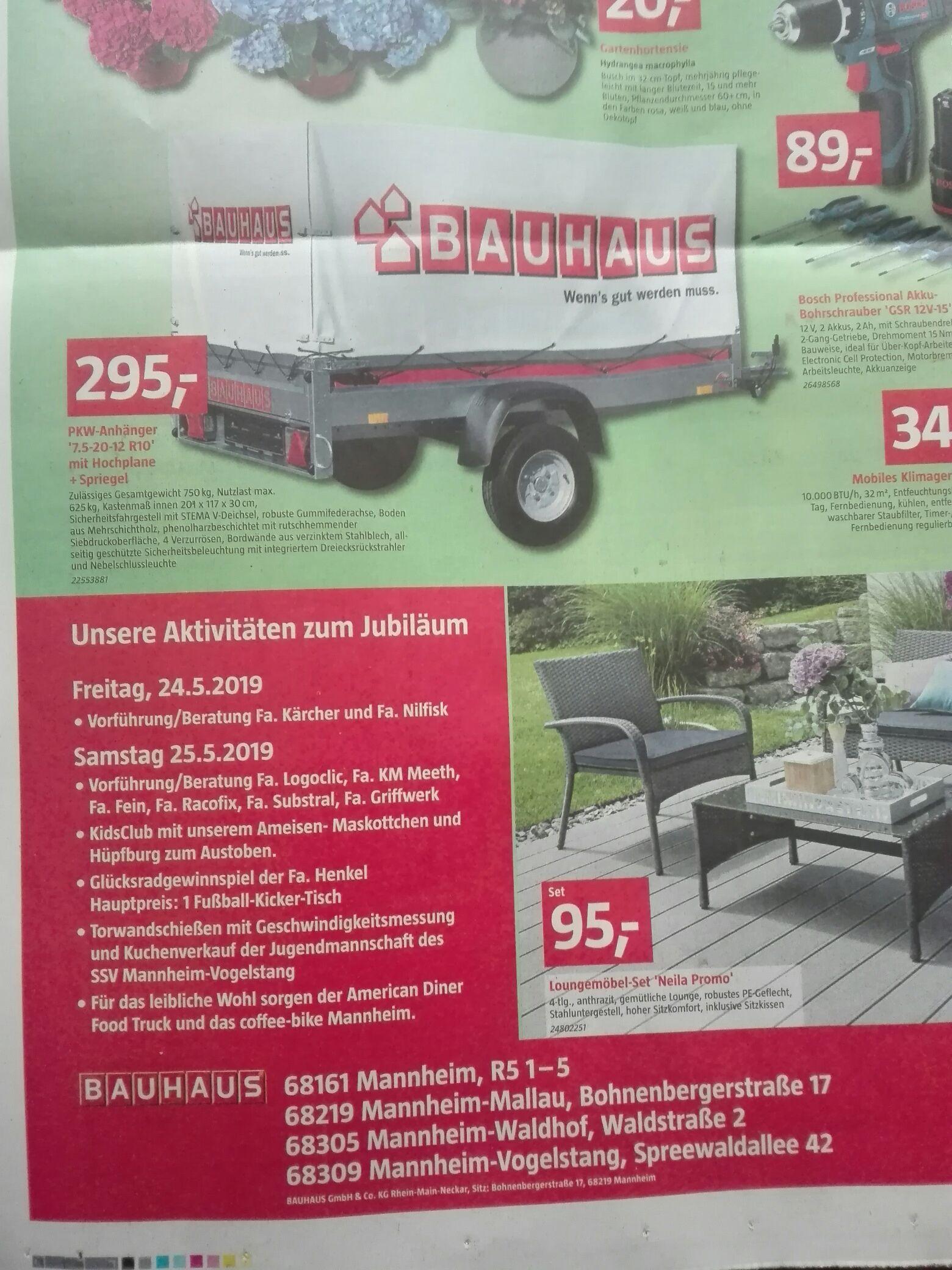 regional mannheim nur offline bauhaus pkw anh nger mit. Black Bedroom Furniture Sets. Home Design Ideas