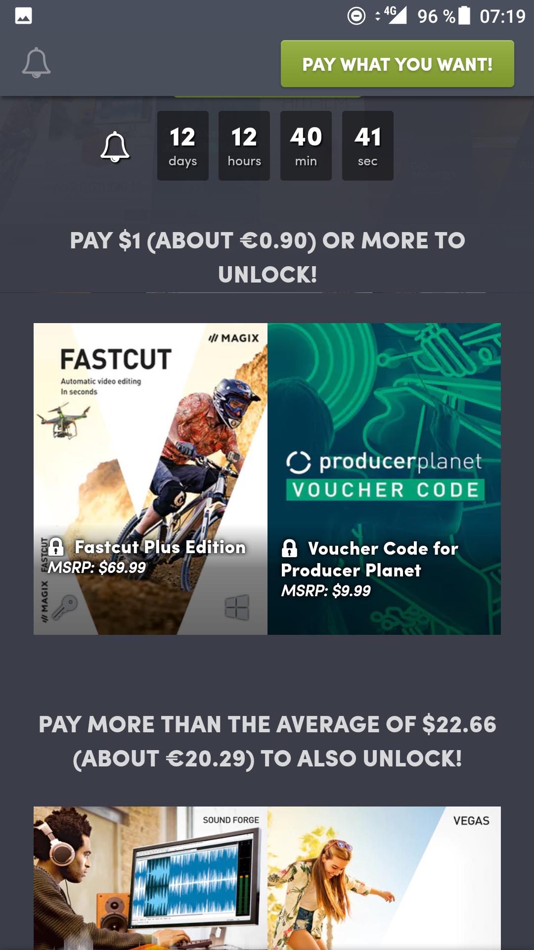 Humble Bundle: Fastcut plus für 90 cents oder Sony Vegas fuer 23€