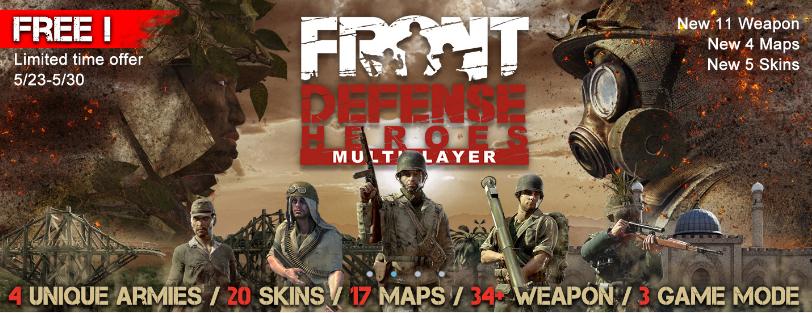 Front Defense: Heroes VR Spiel kostenlos @ Viveport / Free Weekend @ Steam