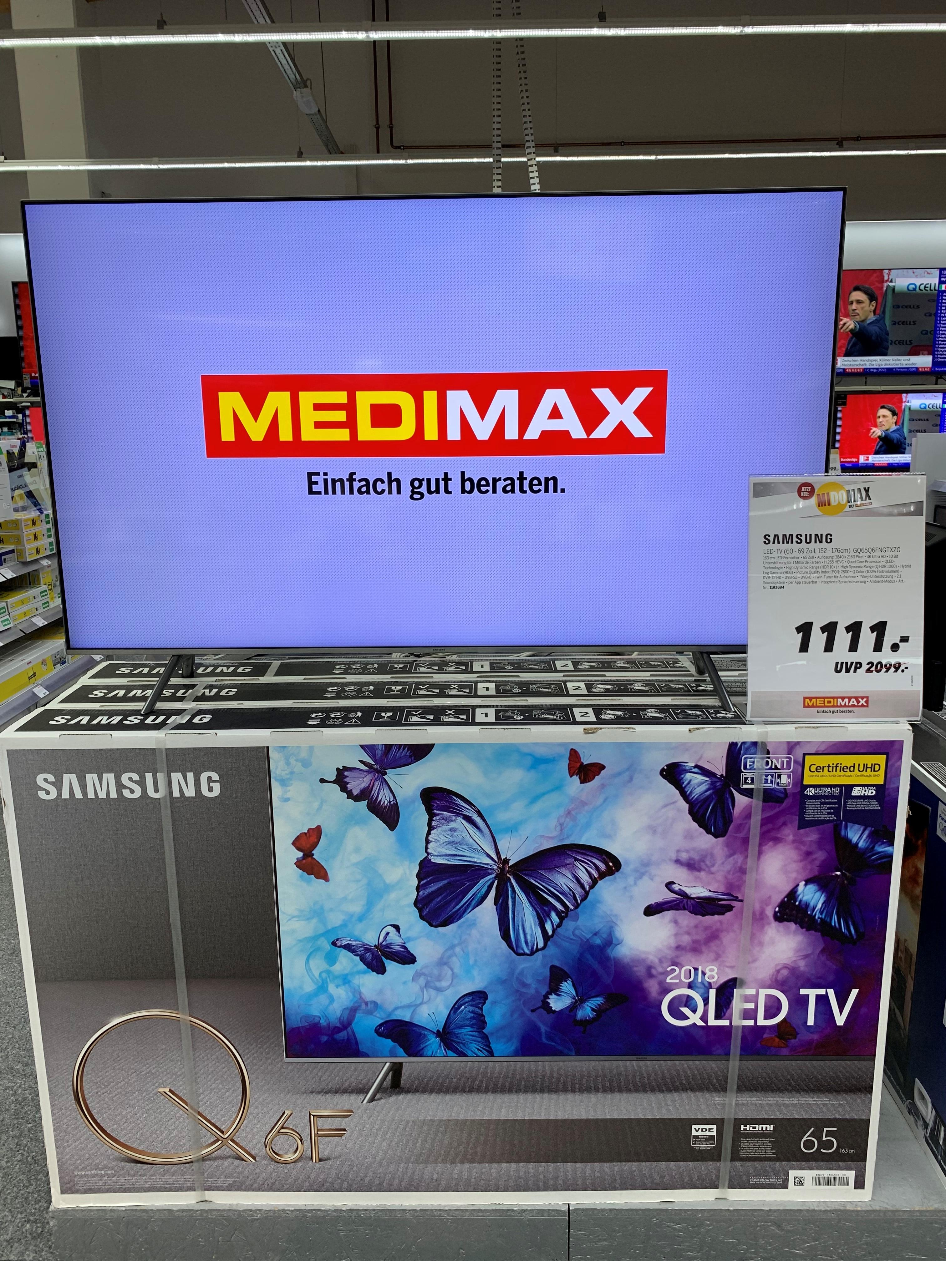 [LOKAL Medimax Offenburg] Samsung GQ65Q6FN QLED TV-Gerät