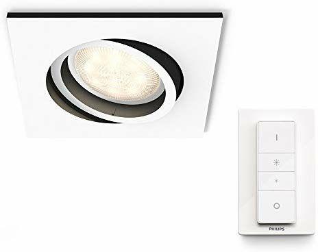 Philips Hue Milliskin Einbauspot  - GU10, White Ambiance mit Fernbedienung dimmbar (Amazon.es)