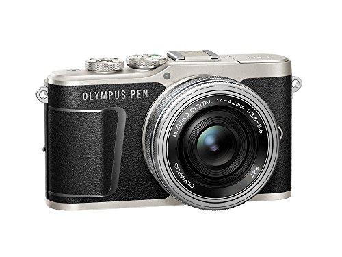 """Olympus PEN E-PL9 Kompakte Systemkamera (16 MP, elektr. Zoom, 4k, 3"""" Display, Wifi) + 14-42mm Pancake schwarz/silber"""