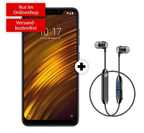 Xiaomi Pocophone F1 & Sennheiser CX6 mit Allnet Tarif + 2GB LTE für 16,99€ im Monat (Vodafone Netz)