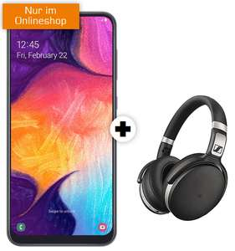 Samsung Galaxy A50 und Kopfhörer Sennheiser HD 4.50 BTNC im Debitel Vodafone (1GB LTE, Allnet) mtl. 16,99€ dazu 50€ Adidas Gutschein