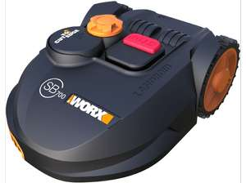 Mähroboter Worx WR110MI Landroid SB 700 (18cm Arbeitsbreite & 20-60mm -höhe, bis 20° Steigung, 20V 2.9Ah-Akku bis 40min, App-Steuerung)