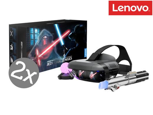 2x Lenovo Mirage Star Wars Jedi Challenges Augmented-Reality-Sets (Headset, Lichtschwert & Peilsender) [iBOOD]