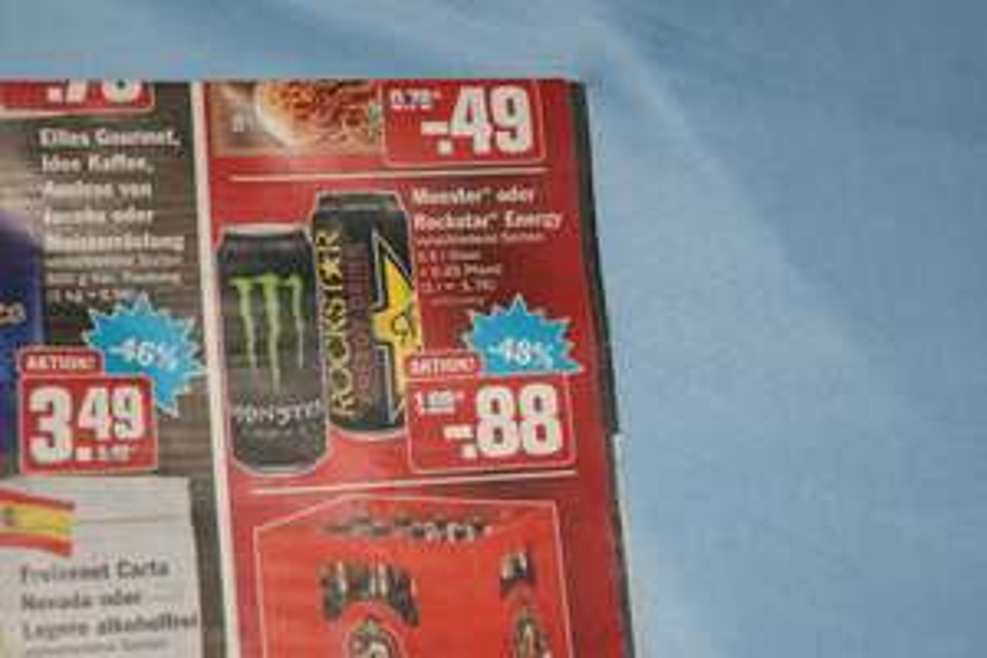 Monster Energy und Rockstar Energy für 88 Cent je 0,5 L-Dose (lokal Berlin HIT ULLRICH)