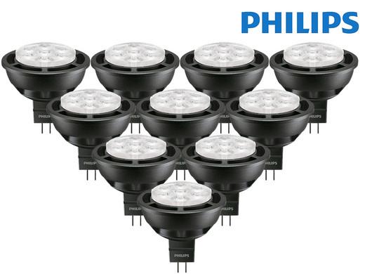 10er-Pack Philips Master LEDspotLV Led-Lampen (6.5-35W, MR16, 36D, GU5.3, 2.700 K, 410 lm, dimmbar, warmweiß 827) [iBOOD]