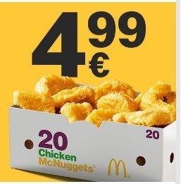 20 Stück Mcnuggets für 4,99€ (McDonalds App)