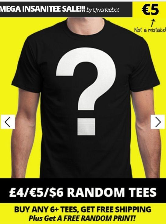 [Qwertee.com] Free Shipping ab 6 Shirts (+50% Ersparnis je Shirt)