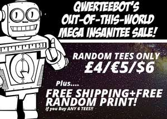 "Qwertee Random TShirts ""Mega InsaniTEE Sale"" - 6 Shirts + Poster für 30 €"